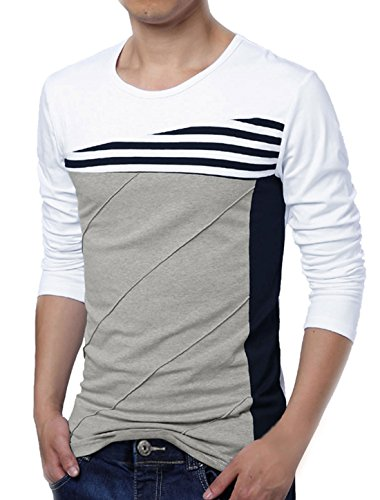 allegra-k-hombre-bloque-color-rayas-camiseta-algodn-blanco-3-spandex-97-algodn-hombre-s-gb-36