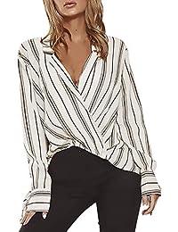 ce9531ee9dcc Suchergebnis auf Amazon.de für: damen bluse weiss gestreift - Letzte ...