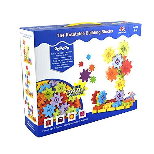 Naisicatar 43 PCS-Gang Mechanische Baustein-Satz Getriebetechnik BAU-Spielzeug-Set Lernspielzeug Fördert STEM für Kinder Lernen Interessantes Spielzeug