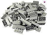 LEGO® - 100 Legosteine in verschiedenen Größen - Seltene Steine enthalten! - Neuware (Hellgrau)