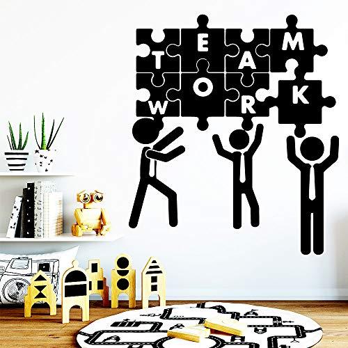 ljradj Geschnitzte Teamarbeit Vinyl Tapetenbahn Möbel Dekorative Für Wohnzimmer Schule Büro Dekoration Wandkunst Aufkleber rosa XL 57 cm X 65 cm -
