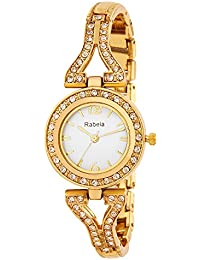 Rabela Women's Analogue White Dial Watch RAB-8027