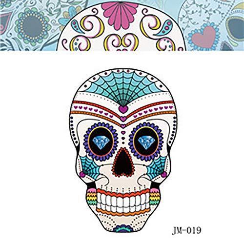 Azxplm adesivo tatuaggio tatuaggi scheletro umano adesivo tatuaggi halloween modello design donna uomo sexy mano viso finto