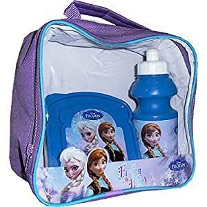 Disney Frozen Official Lunch Bag with Drinks Bottle and Sandwich Box