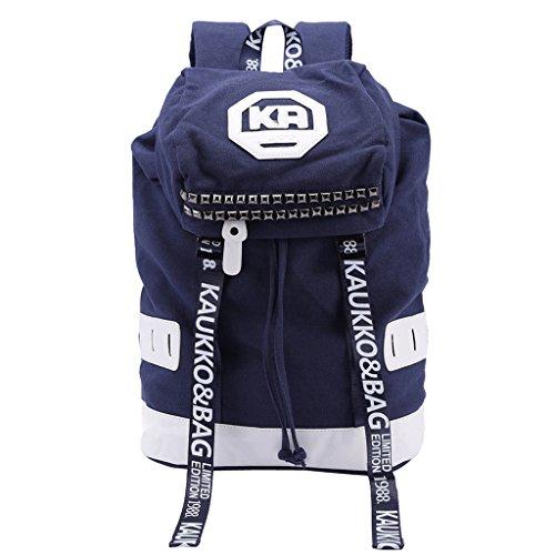 willtop Frauen Rucksack Gurt Schultasche Laptop Rucksack Einkauf Gym Schule Tasche Blau