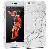 GMYLE Snap Cover Glossy Für iPhone 6 - White Marble II Pattern Schlank Hülle Tasche