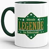 Geschenk-Tasse Zum Renten-Eintritt mit Lustigem Spruch:
