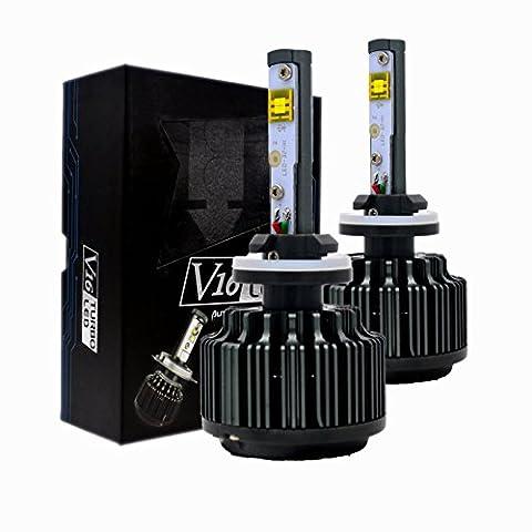Keewors LED Headlight Bulbs 880 881 (893, 899) -7,200Lm 60W 6000K Cool White CREE - 3 Yr Warranty