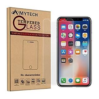 AmyTech iPhone X Schutzfolie (2 Stück pro Set), Display Schutzfolie für iPhone X Displayfolie Displayschutzfolie
