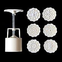 A0127 6pcs Moule pâtisserie Orientale Moule Mooncake Moule décoratif 50g de pâte Outil de Bricolage Timbre Floral 3D