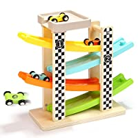 Andreu Toys TB15414 Wooden Racing Track Toy, Multi-Colour, 30 x 10 x 27 cm