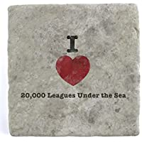 I Love 20,000 Leagues Under the Sea - Marble Tile Drink Coaster