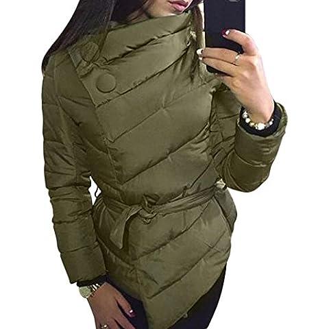 FEITONG mujeres Calentar Invierno Capa Manga larga Irregular chaqueta invierno