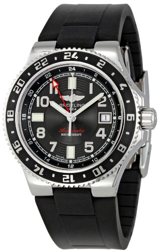 BREITLING SUPEROCEAN GMT MEN'S STAINLESS STEEL CASE DATE UHR A3238011/BA38