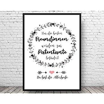 Tiny Tami Kunstdruck★ Beste Freundin wird Patentante★Tante Familie★ Geburt★Taufe★ Bild in A4/A3 -Handmade