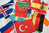 Cindio 7 Meter 24 Länder Fahnen Wimpelkette Fahnenkette Flaggenkette Girlande EM Frankreich 2016