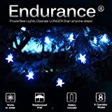 PowerBee ® Endurance Deluxe Solar Star Lights 100 Quality Superbright LED's Multi Function Indoor / Outdoor Garden, Party, Tree Lights for ALL YEAR round use including winter