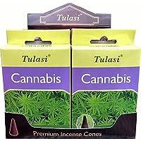 Preisvergleich für Räucherstäbchen Tulasi Räucherkegel Cannabis–4Boxen von 15-