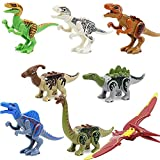 Feleph 8PCS Dinosauro Giocattolo Blocchi Jurassic Theme Dinosaur Miniature Action Figures, Regalo Perfetto per i Tuoi Bambini (B)