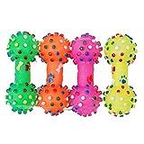 Hundespielzeug Vollgummi Gummi Knochenform 11x4.3cm für Hund Haustier Ungiftig Farbe: