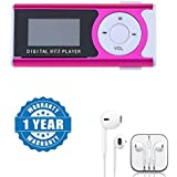 Drumstone Digital MP3 Player With LCD Screen And TF Card Support With Earpod With Mic, Sound Controller, Call Receiver And Call End Button Compatible With Xiaomi, Lenovo, Apple, Samsung, Sony, Oppo, Gionee, Vivo Smartphones (One Year Warranty)
