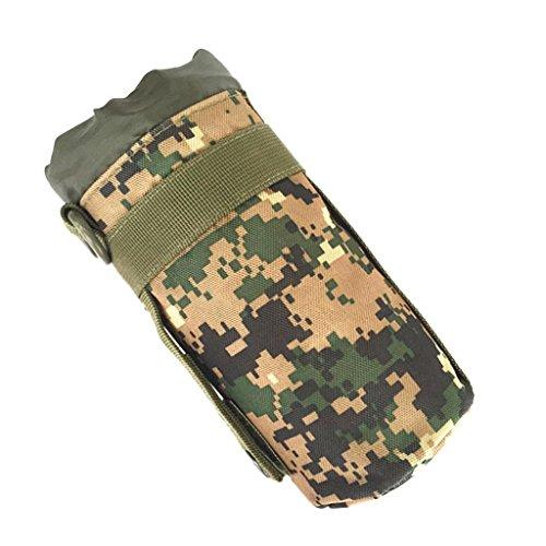 MagiDeal Militare Sacchetto Di Bottiglia In Nylon Porta Bicchiere Di Acqua Molle Esterna Per Palestra Campeggio Scuola Esercito - ACU Camo Deserto Digitale