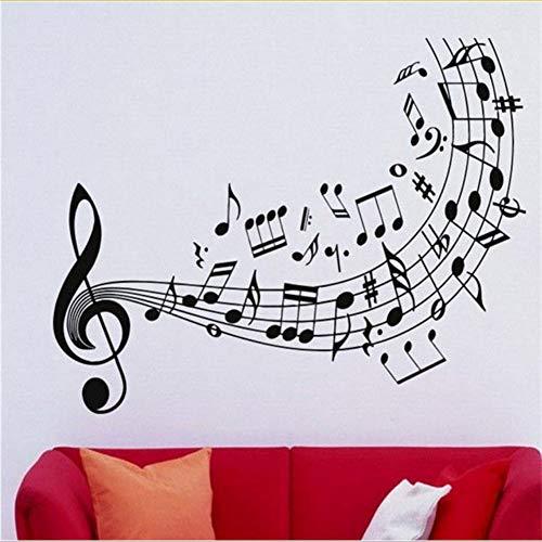 Mrhxly musica di qualità adesivo in vinile sticker note di musica chiave di violino decorazione di arte della decorazione della casa della parete murale di arte del vinile carta da parati 56 * 88cm
