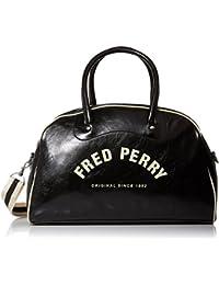 Fred Perry Hombres bolso mango clásico Negro Y Crudo