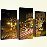 Quadro Canvas Stampa su Tela Trittico Colosseo
