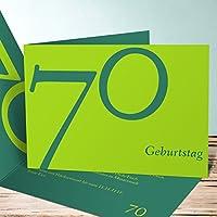 Einladungskarten Zum 70 Geburtstag Selbst Gestalten, Meine Siebzig 5  Karten, Horizontale Klappkarte 148x105 Inkl