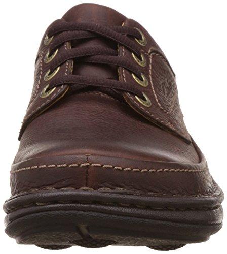 Clarks Nature Three, Chaussures de ville homme Cuir Marron Mahogany