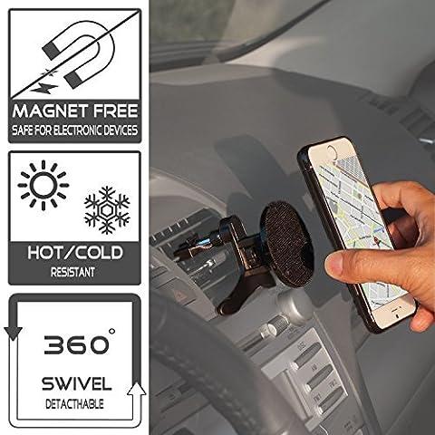 TFY Support Universel Fixation Grille d'Aération Voiture pour Smartphones MP4s GPS Navigators