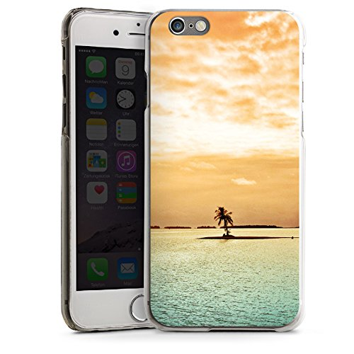Apple iPhone 5s Housse Étui Protection Coque Île Palmier Mer CasDur transparent
