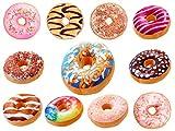 Große Donut Kissen PP Baumwolle Plüsche Zierkissen XXL Runde (Pi-d1 Original)