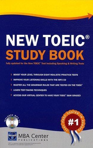 New TOEIC Study Book (1CD audio MP3) de MBA Center (2007) Broch