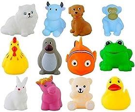 Shop Grab Chu chu Bath Toys Set of 12, Multi-Color
