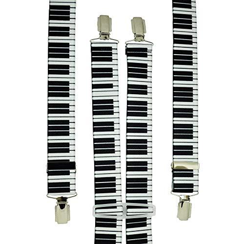 Beauitfeye New Piano Design Herren Damen Unisex 2,5cm Breite verstellbare Hosenträger