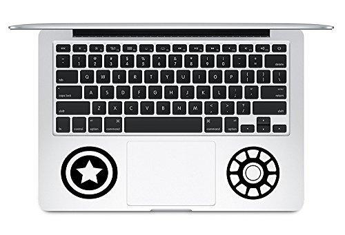 Iron Man Vs Captain America Bürgerkrieg is Coming Apple MacBook Trackpad Tastatur Vinyl Aufkleber Aufkleber Apple Mac Air Pro Laptop Aufkleber Haut (Captain America-mac-aufkleber)