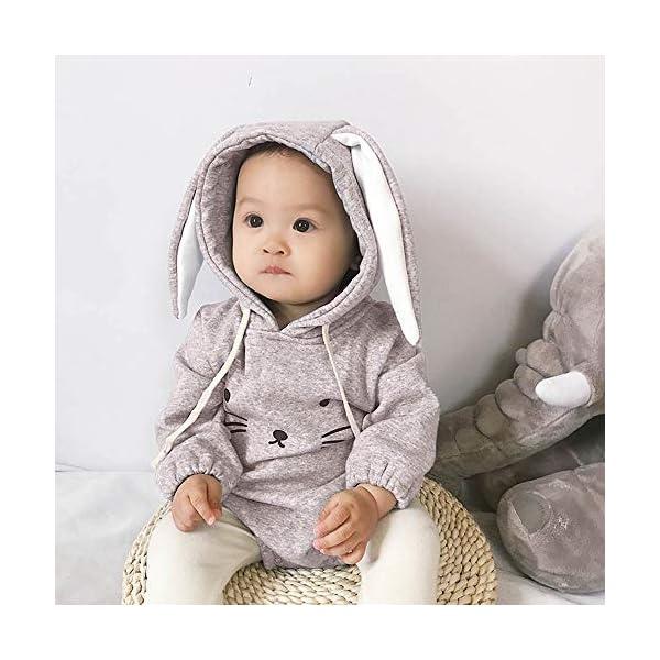 MAYOGO Mono Ropa Bebe Sudadera Manga Larga con Capucha Mameluco Conejo Bodis Ropa Animales para Bebe Niños Invierno Bebé… 5