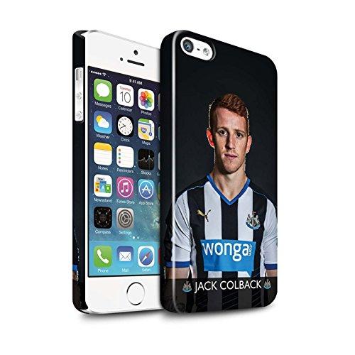Offiziell Newcastle United FC Hülle / Glanz Snap-On Case für Apple iPhone 5/5S / Pack 25pcs Muster / NUFC Fussballspieler 15/16 Kollektion Colback