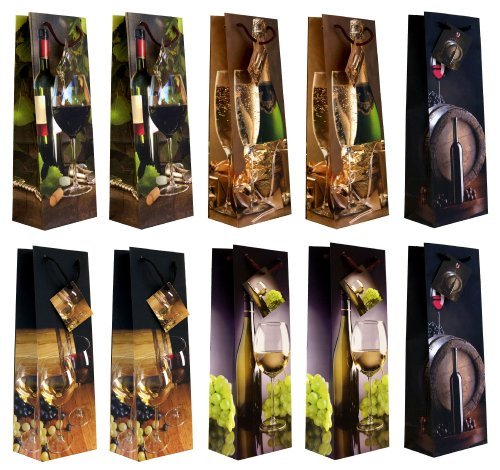Flaschentüten mit Weinmotiven ()