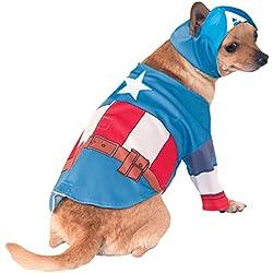 Rubies s–Disfraz de oficial mascota perro, Capitán América–LARGE