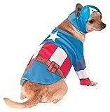 Rubies 's–Disfraz de Oficial Mascota Perro, Capitán América–Large