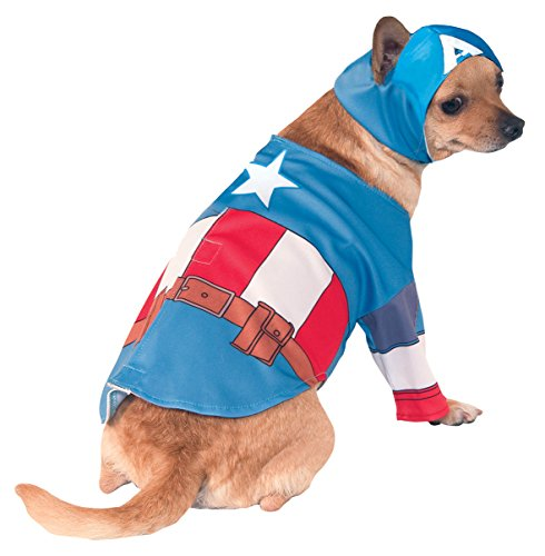Captain America Hund Kostüme (Rubies 3580070 - Captain America Hundekostüm,)