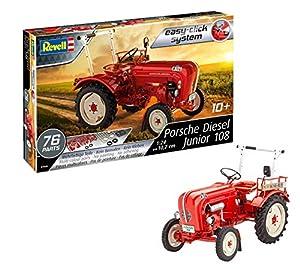 Revell Porsche Junior 108, Tractor, escale 1/24 Kit Modelo Easy Click System (07820) (Revell07820)
