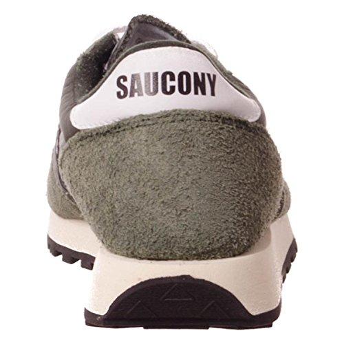Saucony Jazz Original Vintage uomo, pelle scamosciata, sneaker bassa Dark Green/Black