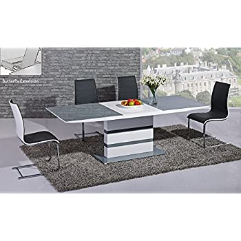 arctic extending dining table in grey from giatalia extending function very stylish contemporary - Grey Extending Dining Table
