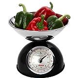 Dexam Bilance Da Cucina Retrò In Bianco - Ciotola 2L In Acciaio Inox - Pesa Fino A 5 Kg (Confezione da 2)