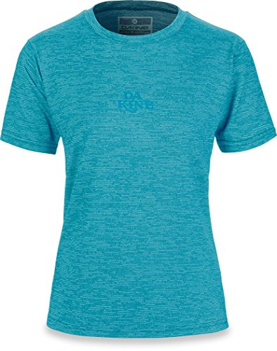DAKINE Womens Dauntless Loose Fit Short Sleeve Schnell Dry Leichte Rash Vest Top Bay Island Heather (Sleeve Up Cover Short)