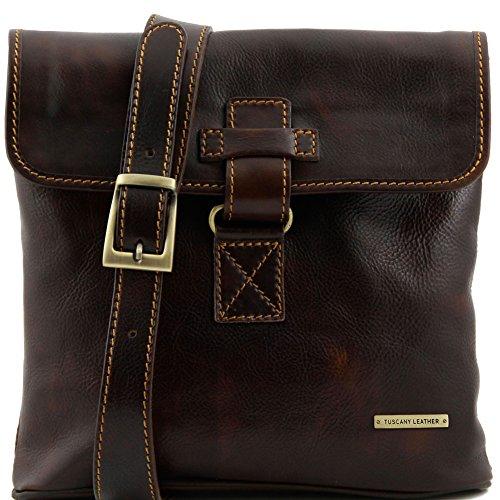 Tuscany Leather - Andrea - Borsello in pelle a tracolla Nero - TL9087/2 Testa di Moro